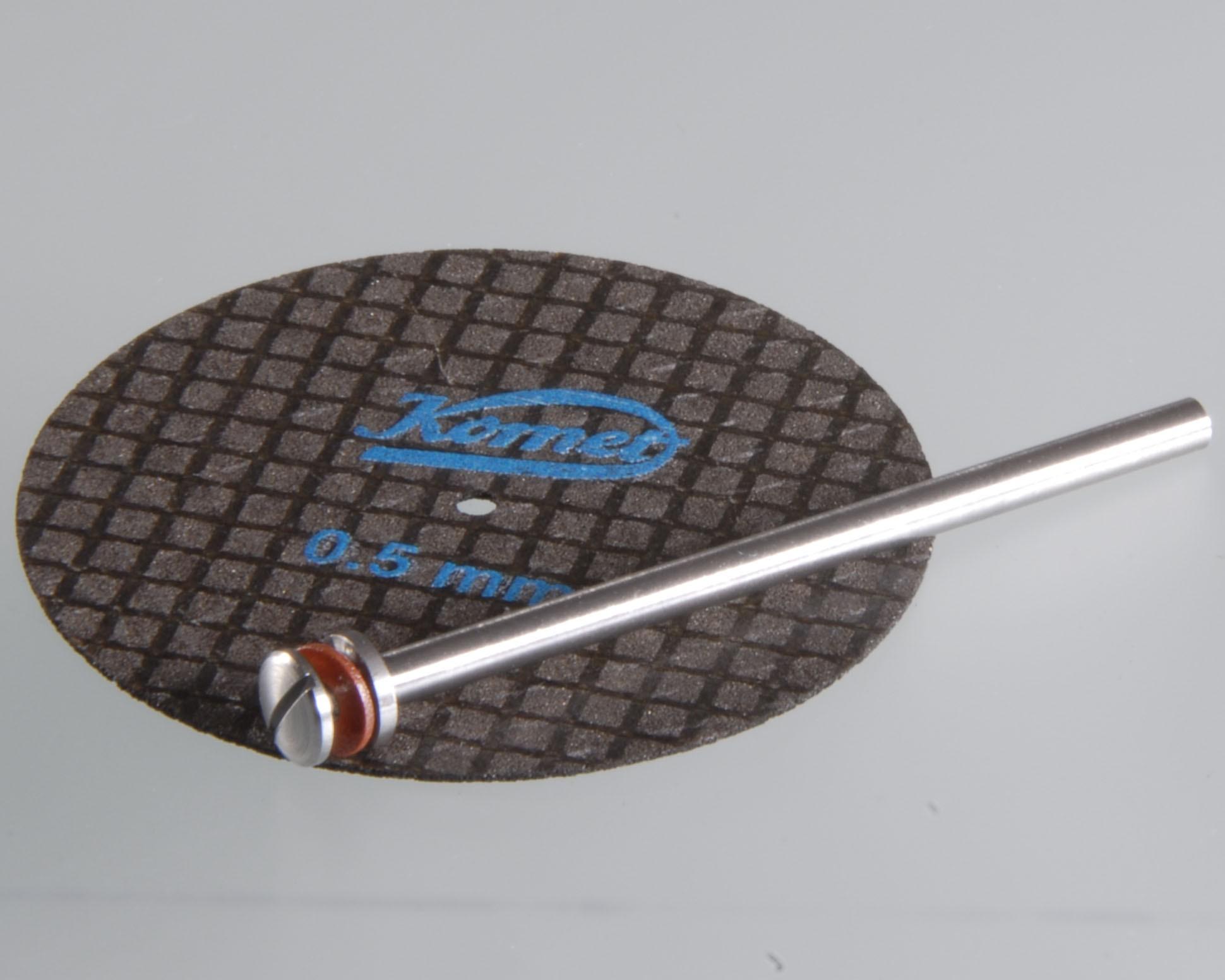 Trennscheiben 0,5 mm, Ø 40 mm, gewebeverstärkt (VE 1 Stk. u. Aufspanndorn)