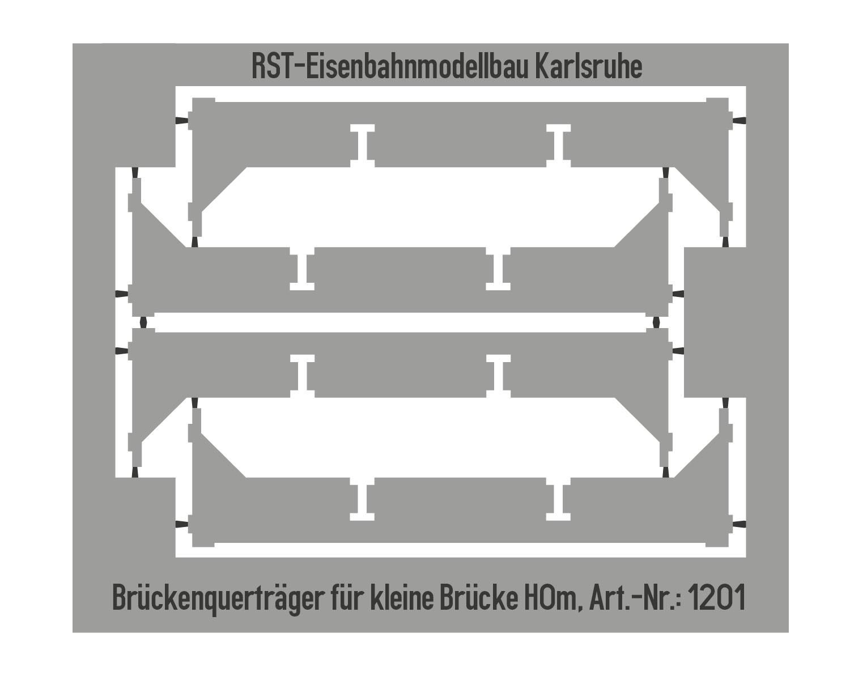 """Brückenquerträger für """"Kleine Brücke"""" (Spur H0m)"""