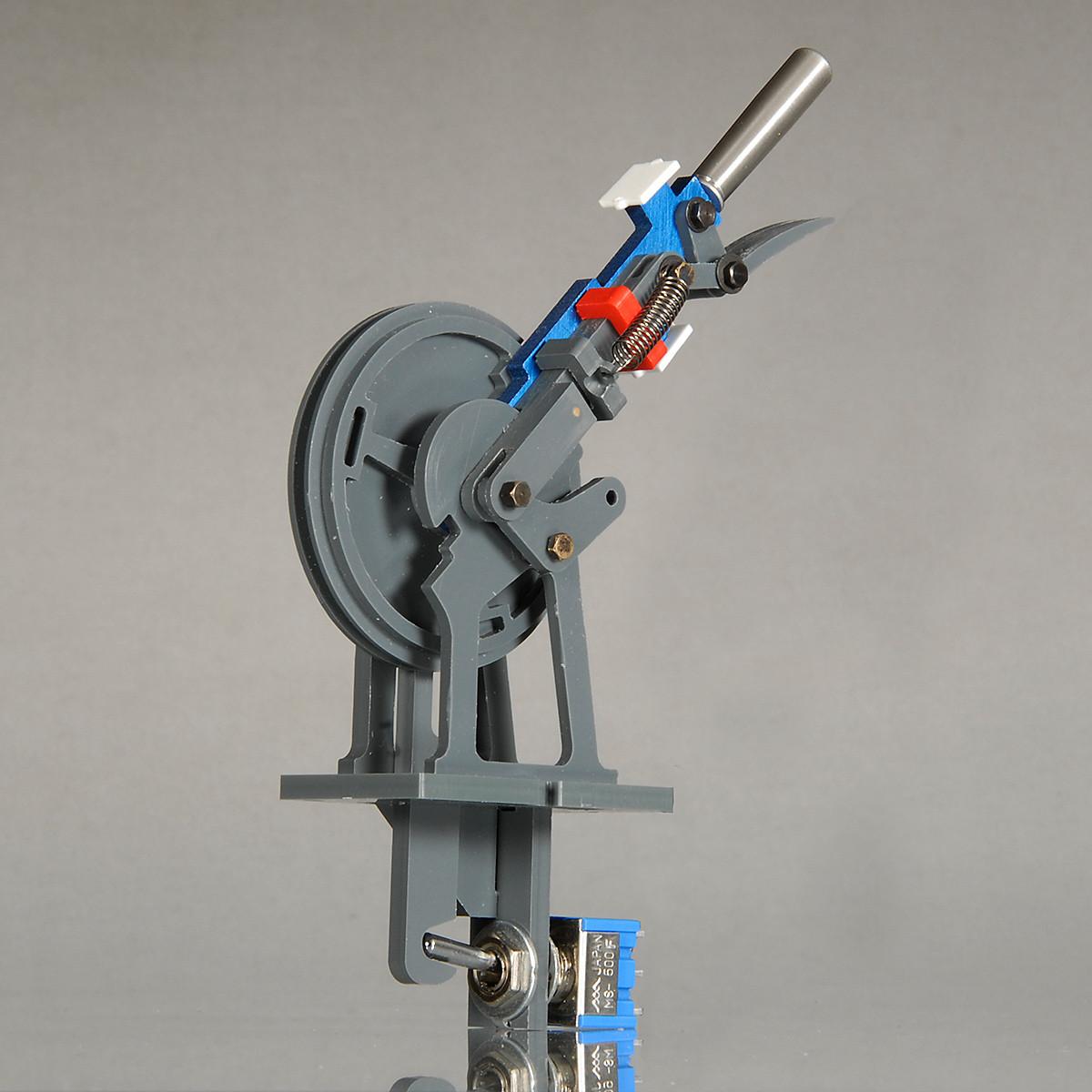 Sperrsignalhebel (blau/rot) für mechanisches Stellwerk - NT-Version