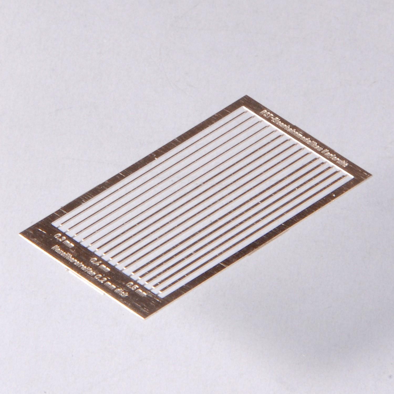 Neusilberstreifen mit 0,3mm; 0,4mm; 0,5mm
