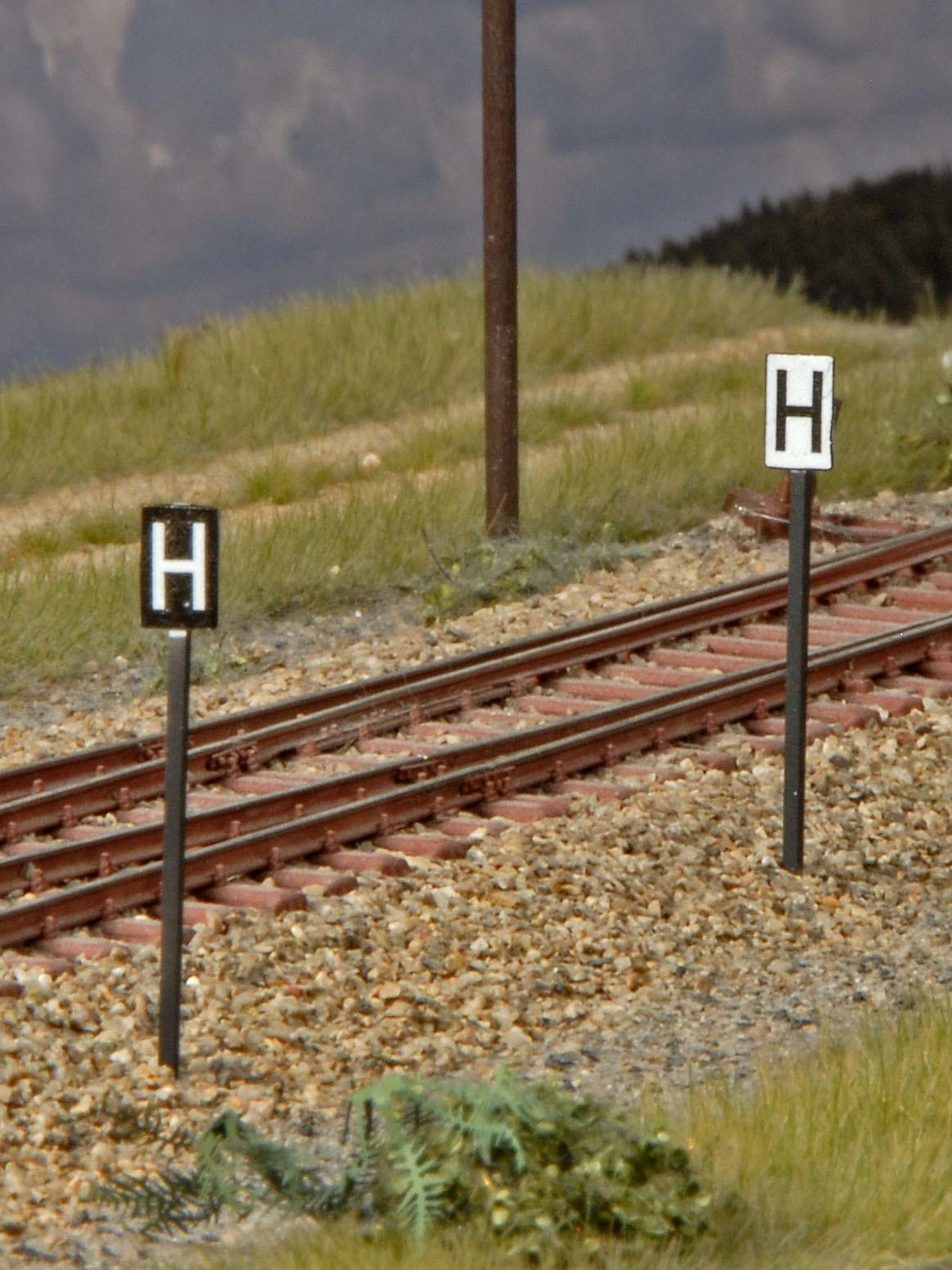 H-Tafel, Haltetafeln (Spur H0)