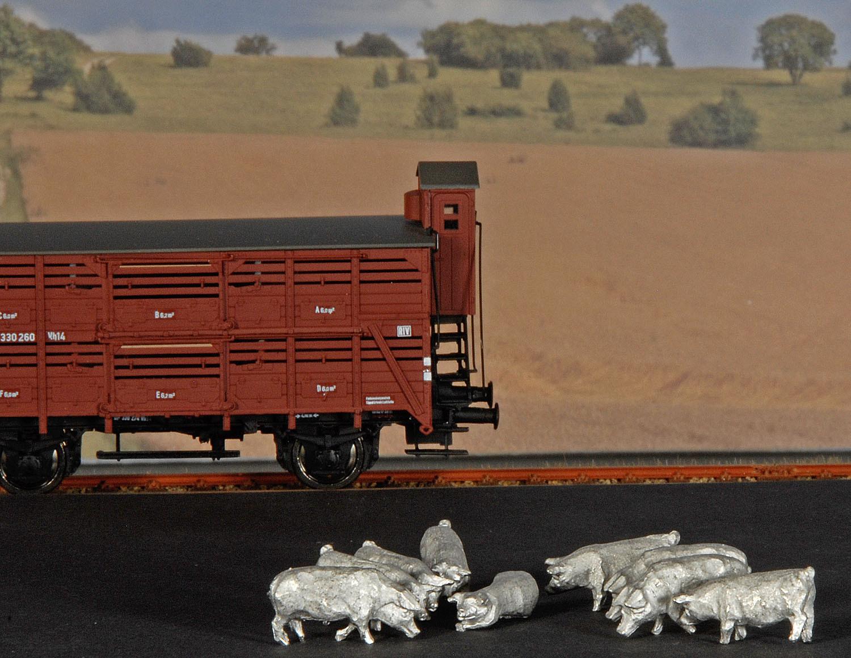 Gewichte für Verschlagwagen (Schweine) Spur H0 (VE 9 Stk.)