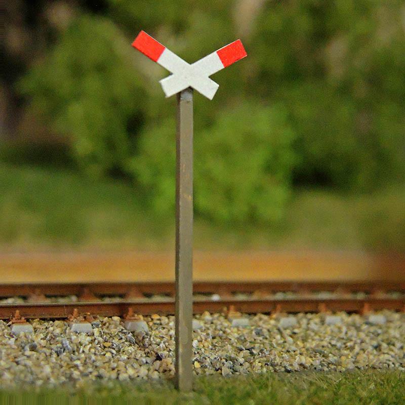 Warnkreuz für beschrankte Bahnübergänge (VE 2 Stück)