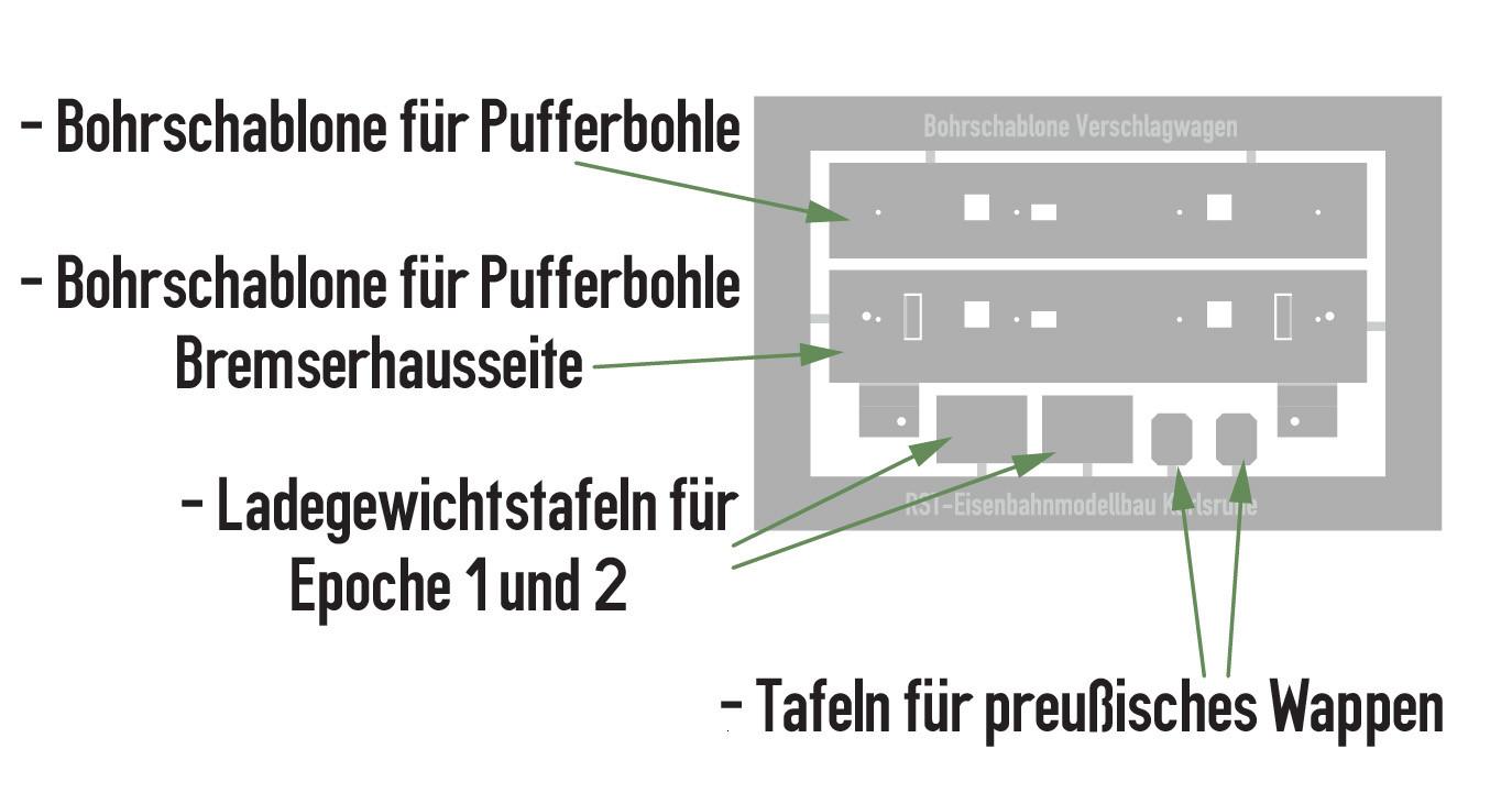 Bohrschablone (Ersatzteil) - Verschlagwagen