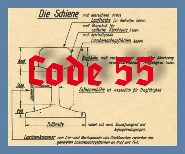 Code 55 Schienenprofil, blank