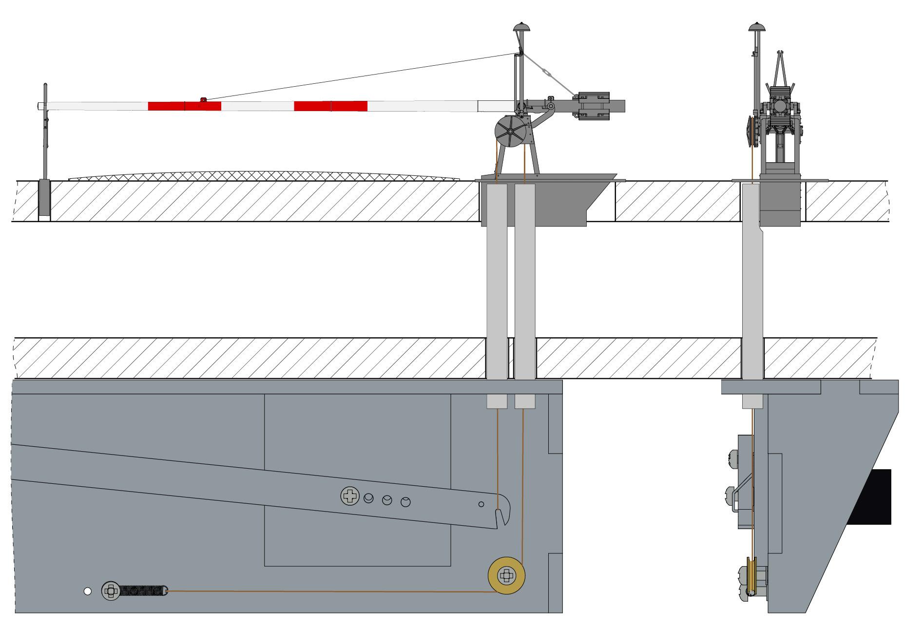 Antriebsmechanik für mech. Einheitsschranke (Bausatz)