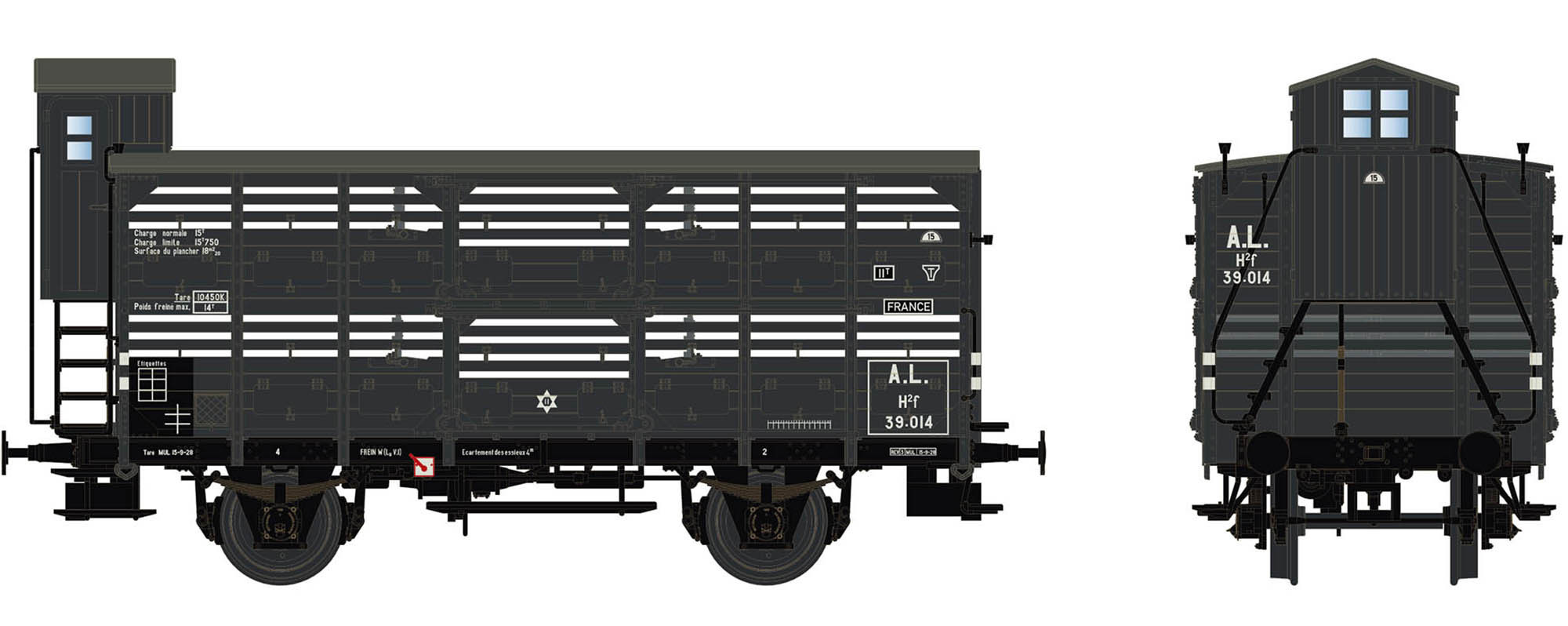 Wagenbausatz Verschlagwagen Vh14, A.L., Epoche II