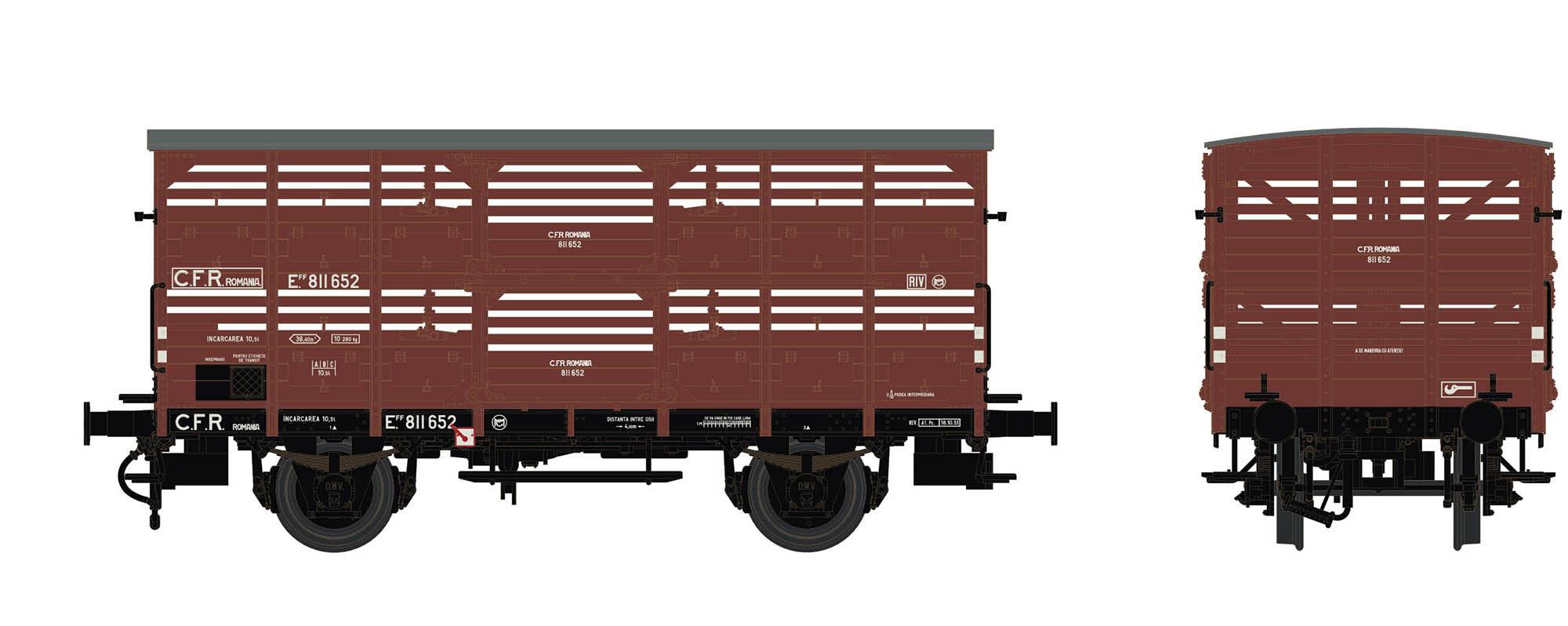 Wagenbausatz Verschlagwagen Vh14, CFR, Epoche III