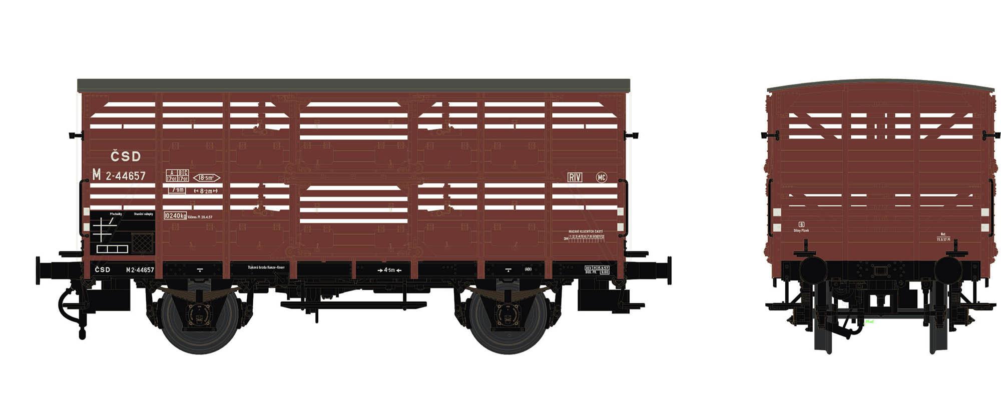 Wagenbausatz Verschlagwagen Vh14, ČSD, Epoche III