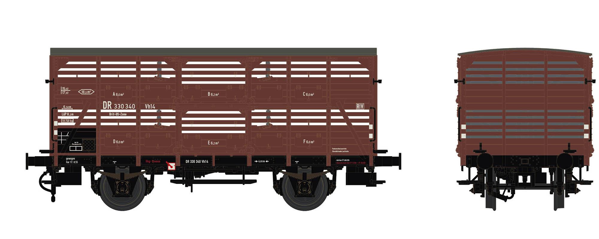 Wagenbausatz Verschlagwagen Vh14, DB, Epoche IIIa