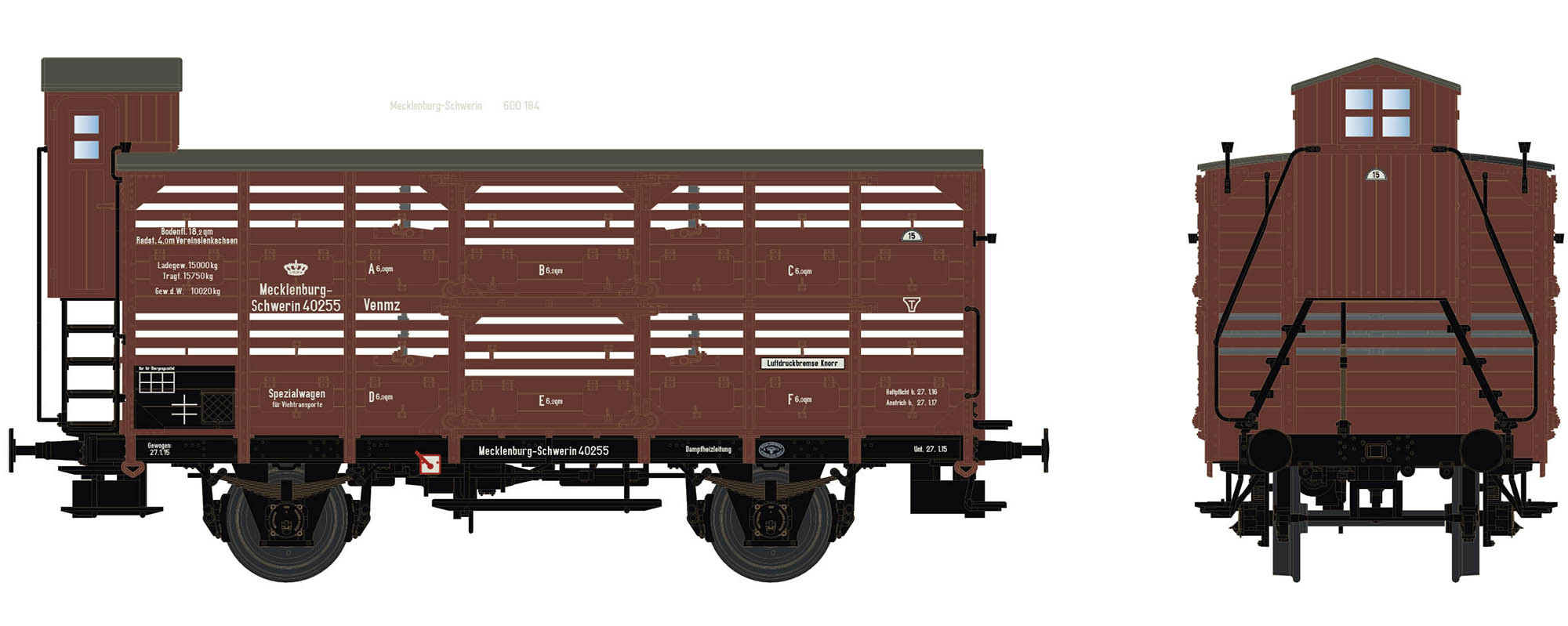Wagenbausatz Verschlagwagen Vh14, M.F.F.E., Epoche I