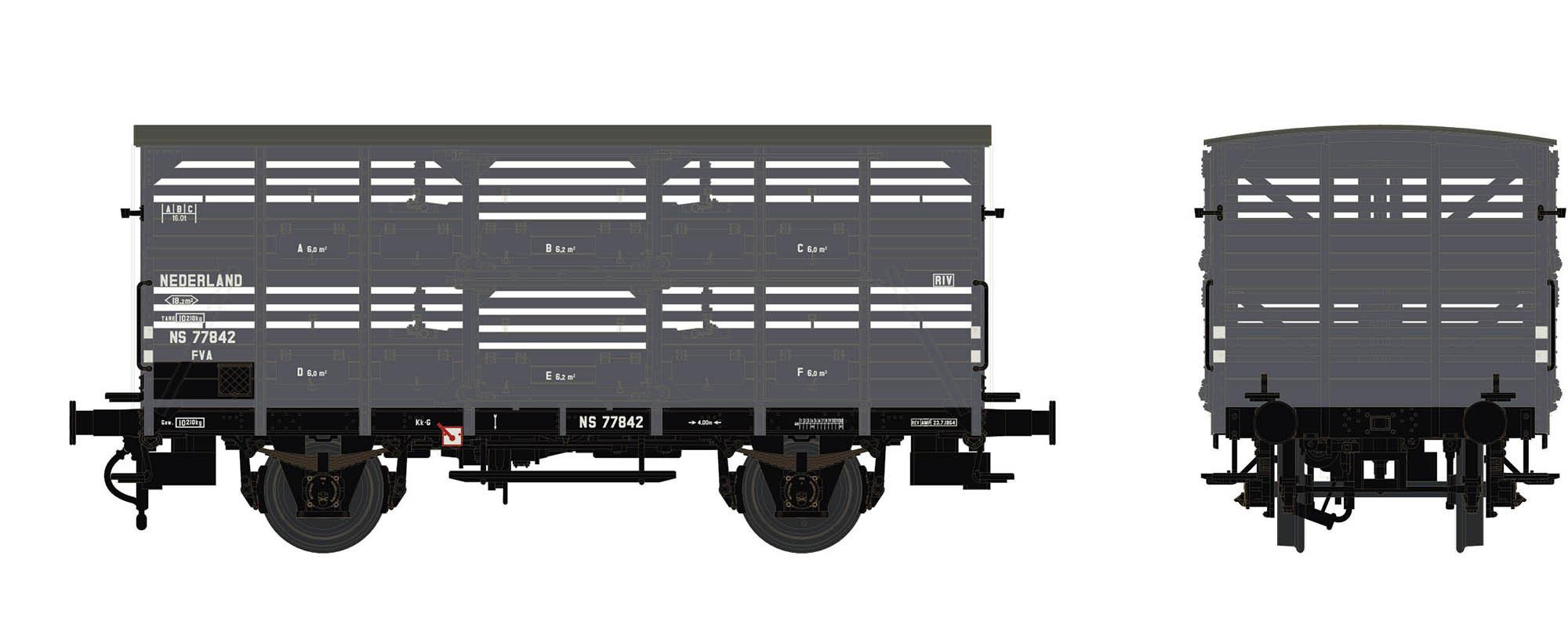 Wagenbausatz Verschlagwagen Vh14, NS, Epoche III