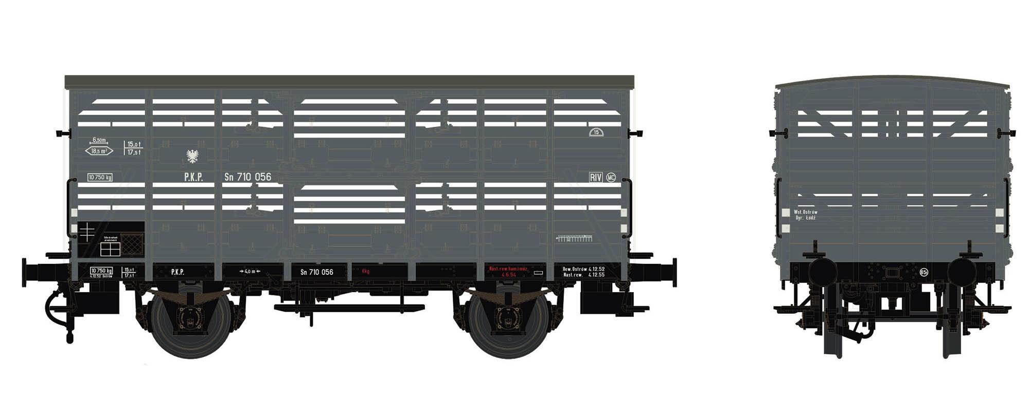 Wagenbausatz Verschlagwagen Vh14, PKP, Epoche III