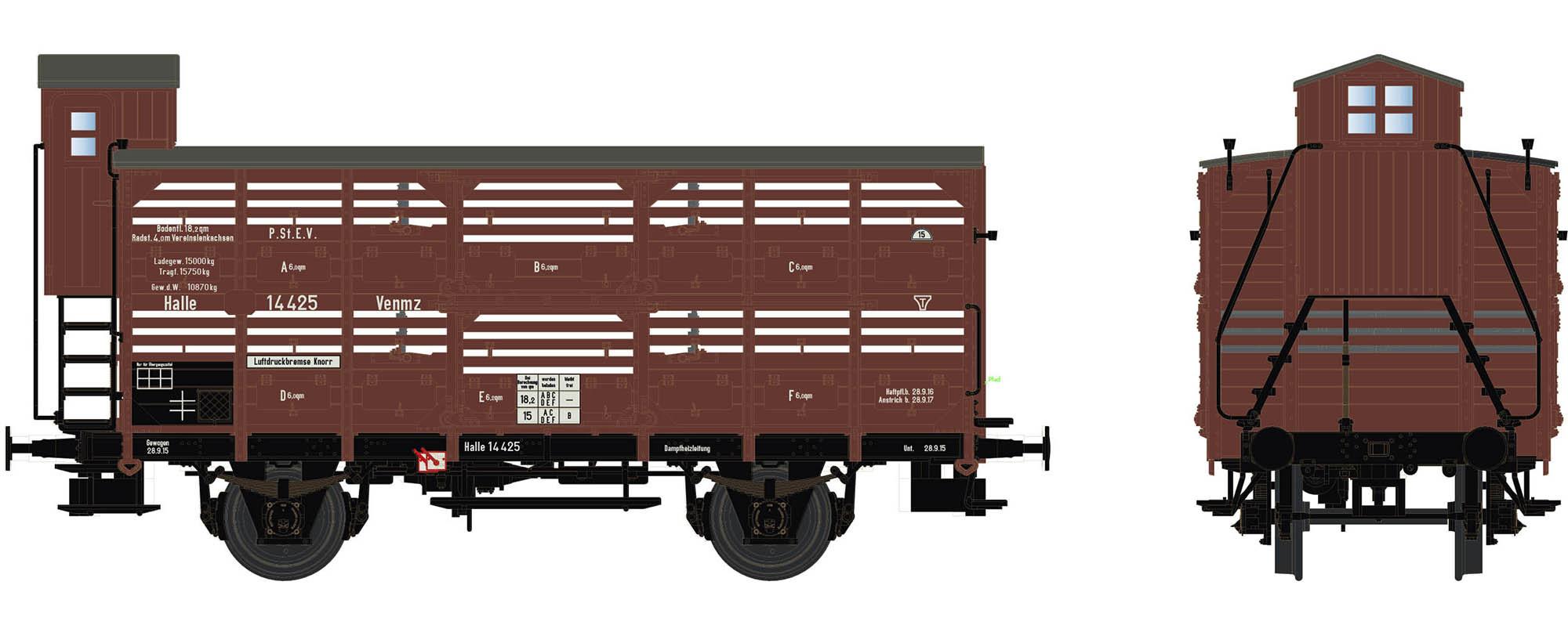 Wagenbausatz Verschlagwagen Vh14, P.St.E.V., Epoche I