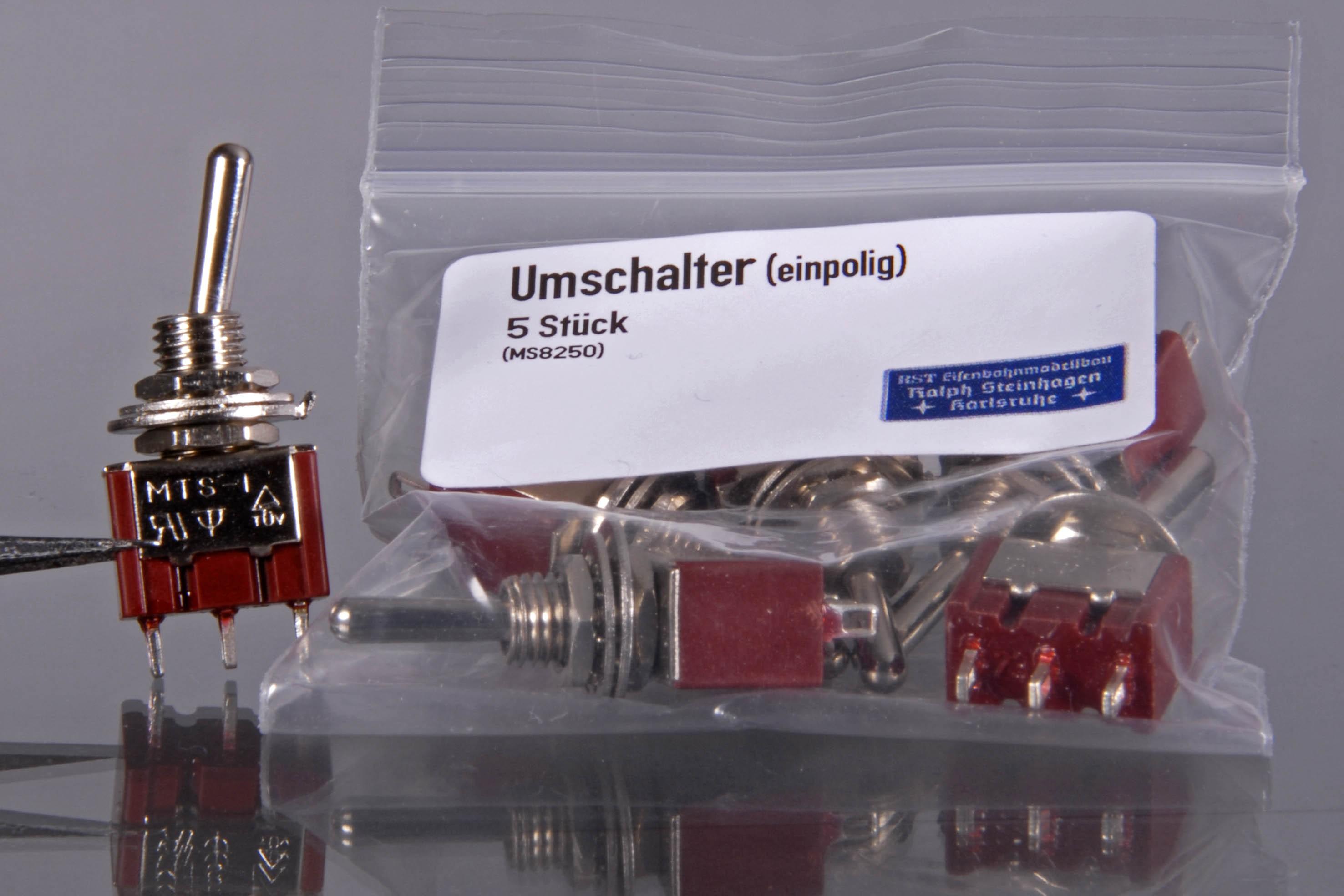 Miniaturkippschalter, 1-polig (VE 5 Stück)
