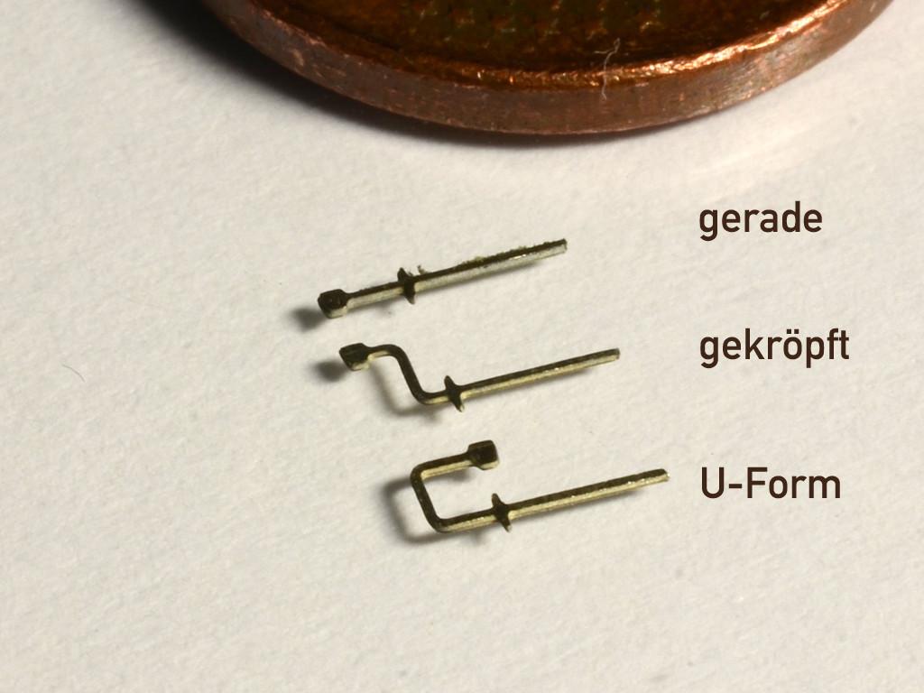 Schlußscheibenhalter U-Form (Spur N)