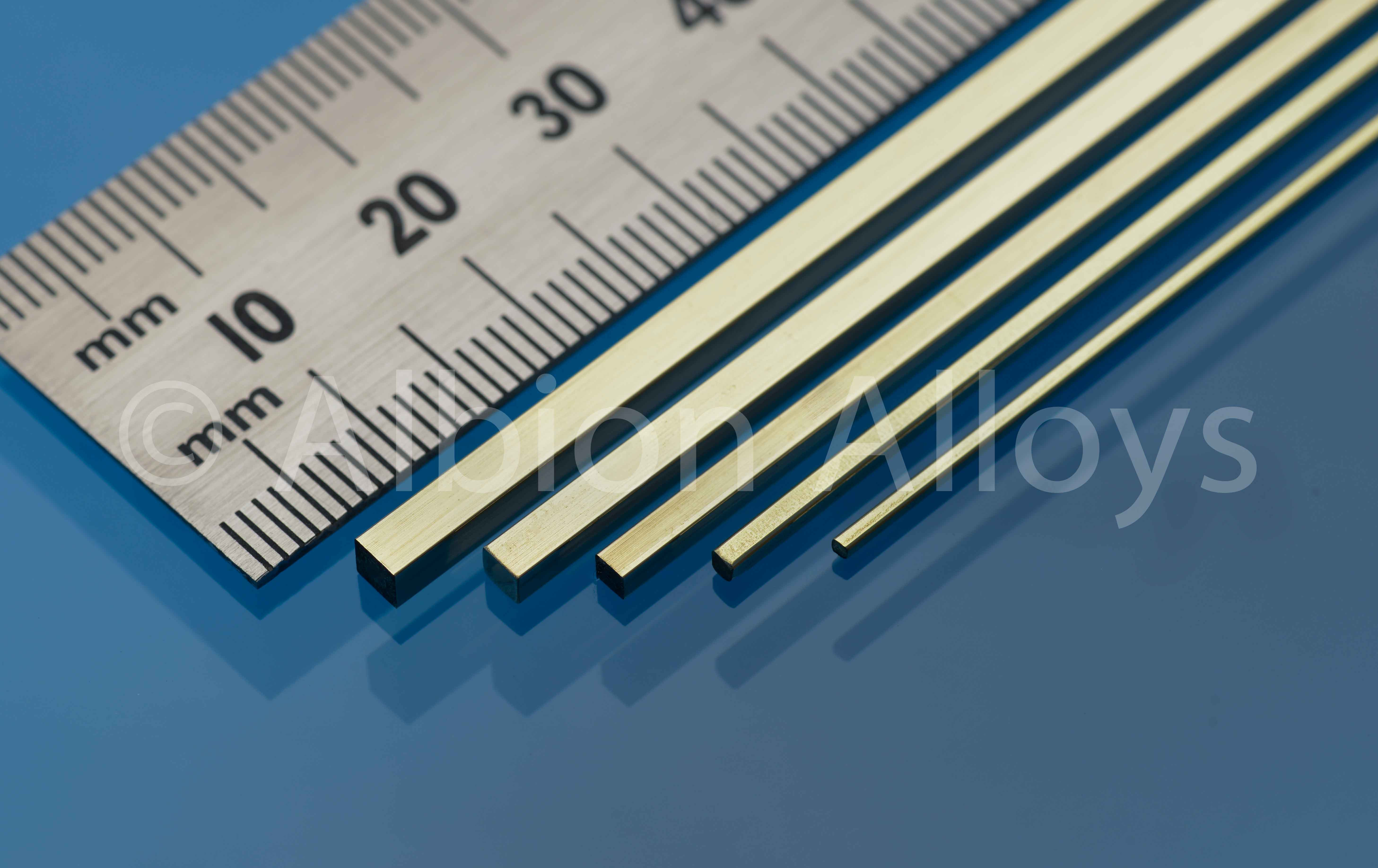 Vierkant Messingprofil 1 x 1 mm