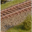 Stahlschwellen für 15 m Rost (Spur 0)
