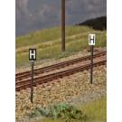 Signaltafeln - H-Tafel, Haltetafeln (Spur H0)