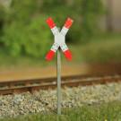 Warnkreuz für beschrankte u. unbeschrankte Bahnübergänge (VE 2 Stück)