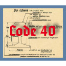 Code 40 Schienenprofil, blank