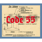 Code 55 Schienenprofil, brüniert