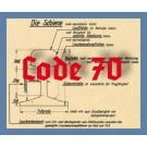 Code 70 Schienenprofil, brüniert